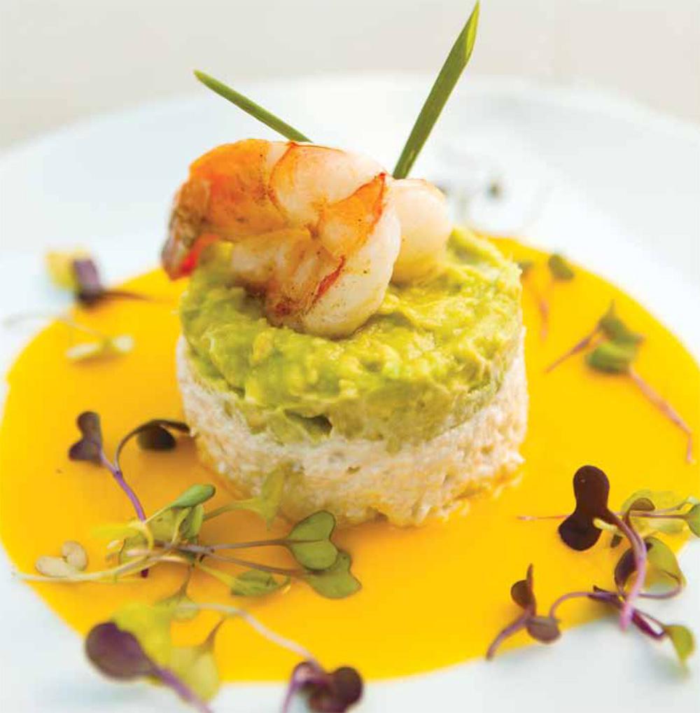 Crab & avocado timbale recipe
