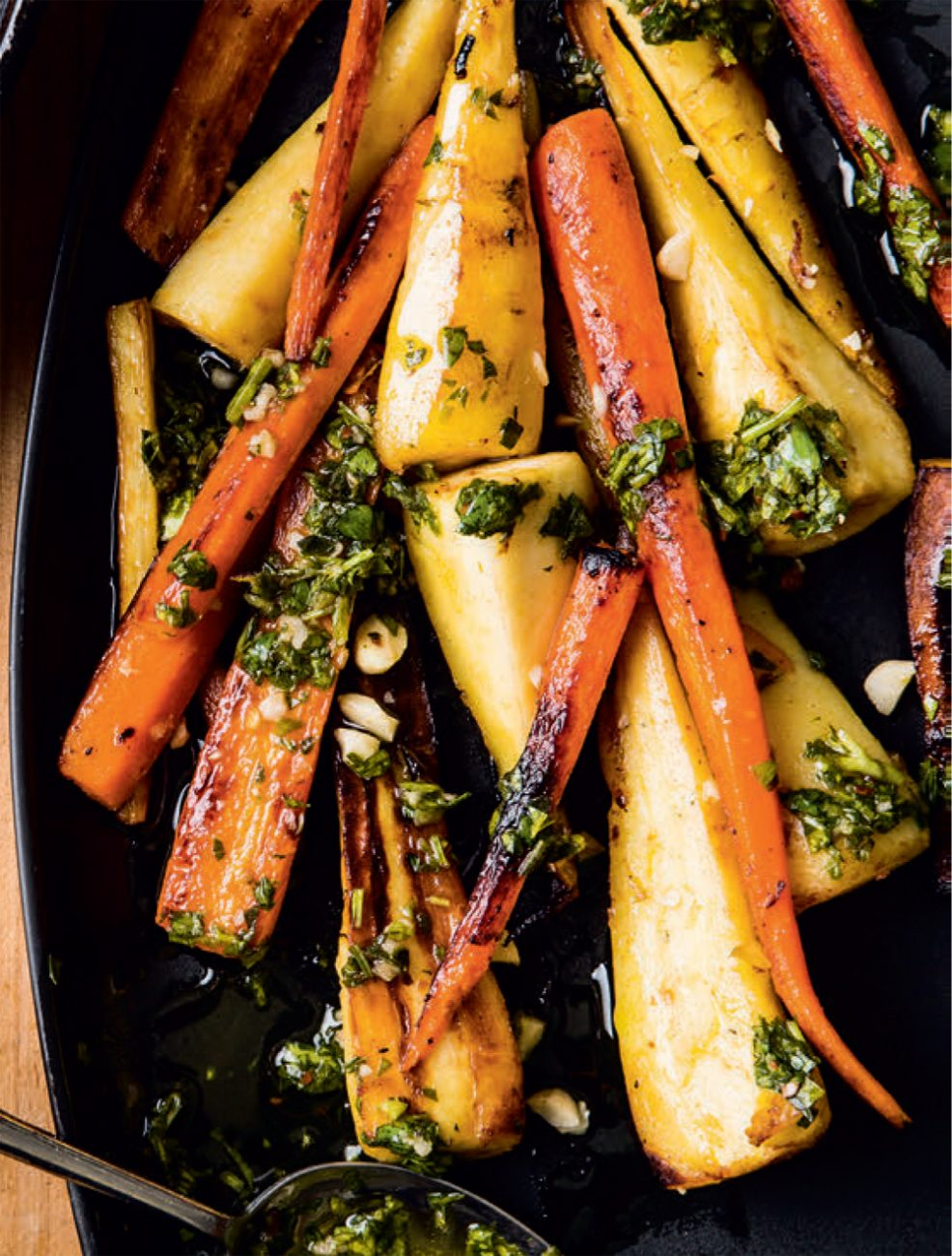 Carrots & parsnips with chimichurri recipe