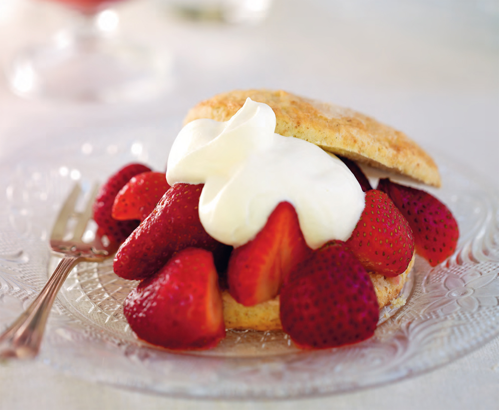 Strawberry cardamom shortcakes with orange blossom cream recipe