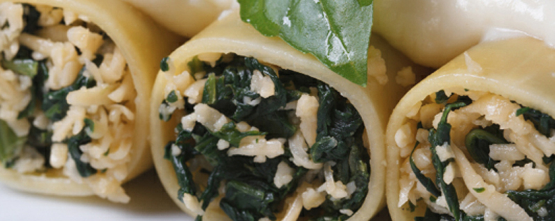 Baked cannelloni with cheese & spinach recipe