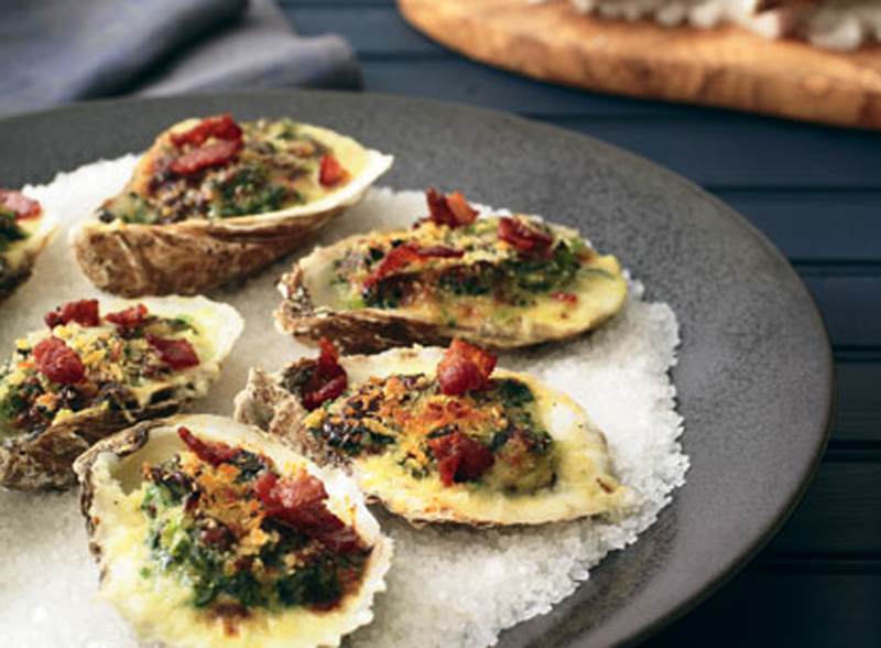 Classic oysters Rockefeller oysters straight up with mignonette recipe