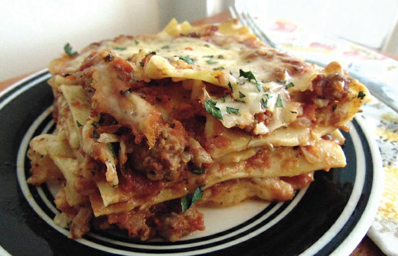 Engagement ring lasagna recipe