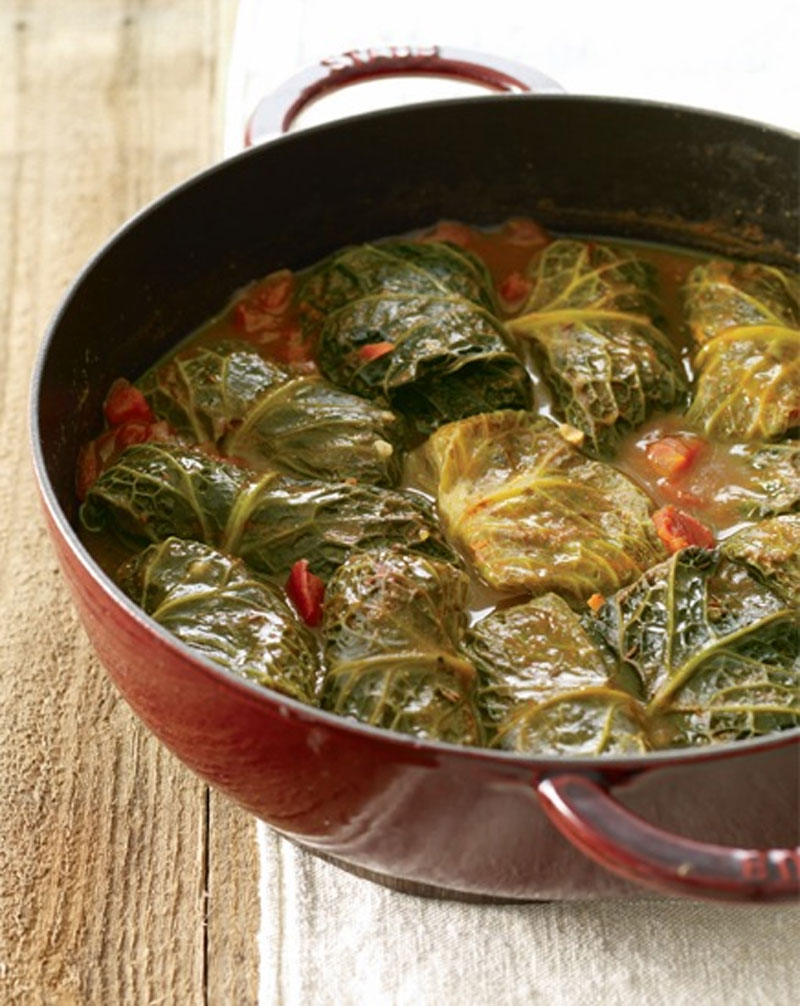 Brown rice stuffed cabbage recipe