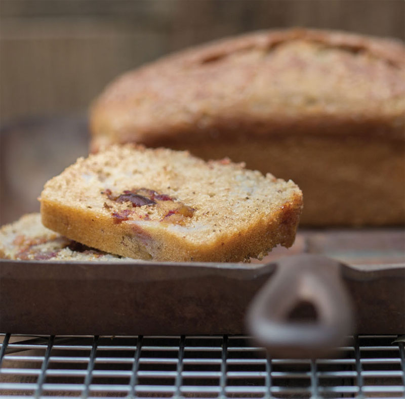 Date line-sour cream banana bread recipe