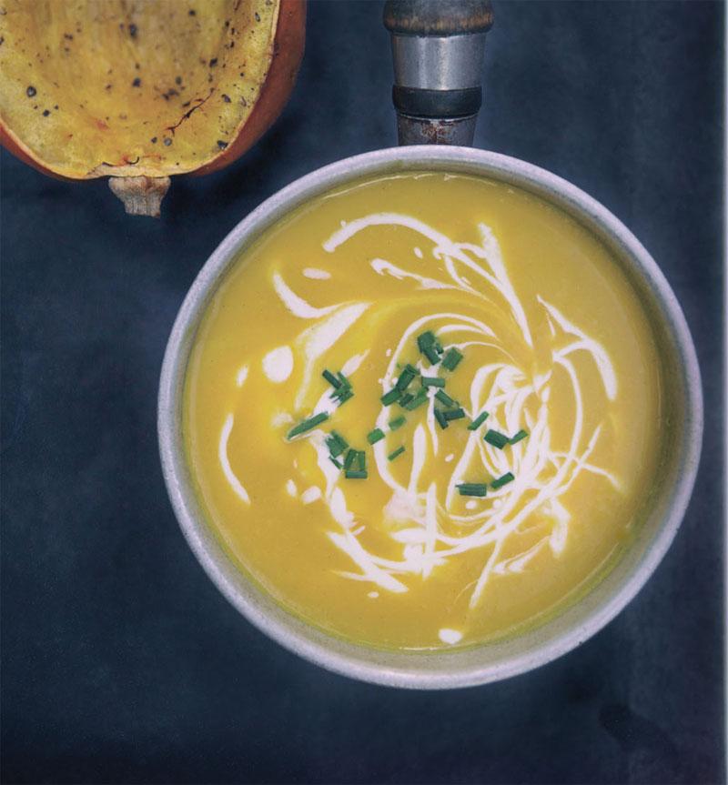 Maple acorn squash soup recipe
