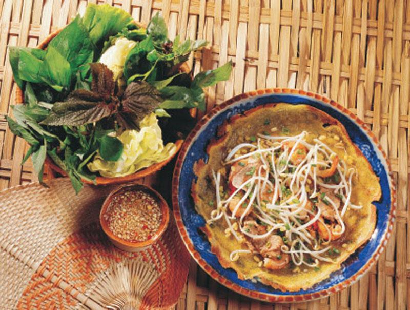 Shrimp and vegetable pancake recipe